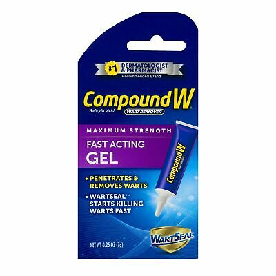 Compound W Wart Remover Fast Acting Gel Maximum Strength 7g 0.25oz FAST FREEPOST
