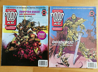 Best of 2000AD Monthly 103 & 104  - UK comics - A.B.C. Warriors - giant specials