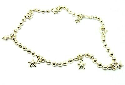 Anklet       B15275 Sterling Silver Tiny Hanging Padlocks and Keys Ankle Chain