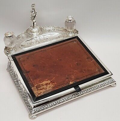 Victorian Silver Plated Inkstand Made by ELKINGTON  Circa 1900 Stock ID 9465