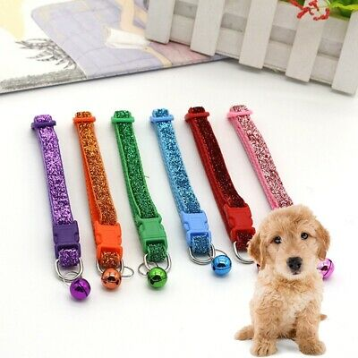 1Pc Pet Collar Adjustable Bling Pet Necklace Stylish Cat Dog Bowtie Ring Collar