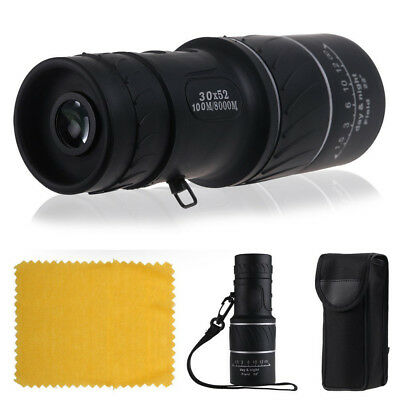 30x Magnification 52mm HD Lens Monocular Telescope Hunting Camping Hiking Travel