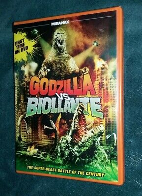 GODZILLA vs BIOLLANTE Rare ORANGE Case 1989 DVD Widescreen Version USA R1 Toho