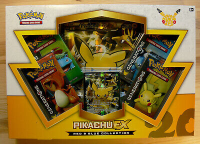 Pikachu EX Generations Collection Box NEW Pokemon Card XY 124 Red Blue Boosters