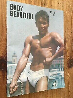 Rare Vintage Body Beautiful Magazine No 40 Beefcake Bodybuilding Gay Interest