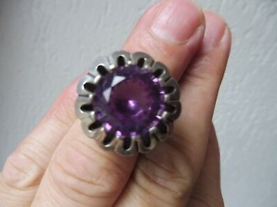 Beautiful, Old Ring __925 Silver __ with Beautiful, Polished Stone (Amethyst)