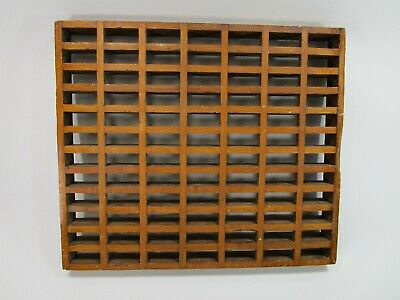 Vintage antique oak wood floor register grate heating vet