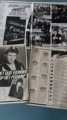 johnny logan, clippings + poster , eurovision