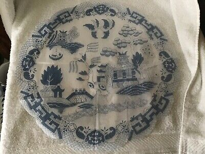 Blue willow pattern Rice paper napkins pack of 15 FREE US SHIPPING