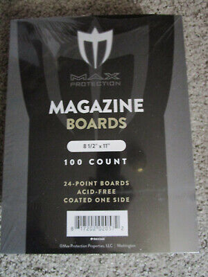 "200 Max Pro Magazine Backing Boards 8 1/2 x 11"" (24 Pt.)  FREE Shipping"
