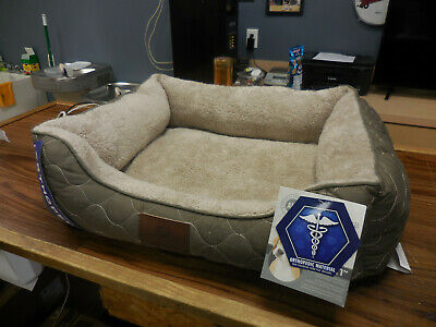 American Kennel Club Orthopedic Premium Pet Bed 25x21 AKC1632TAUPEAMZ NEW (E)