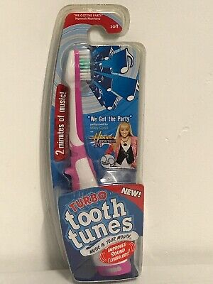 "New! Turbo Tooth Tunes Toothbrush, Hannah Montana - ""We Got The Party"""