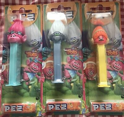 PEZ Trolls Dispenser Brand New X3