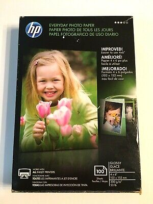 """HP Everyday Photo Paper 100 4 x 6"""" Glossy CR759A  Made in Germany NEW"""
