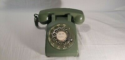 Western Electric Bell System Rotary Dial Telephone 500DM Avocado Green