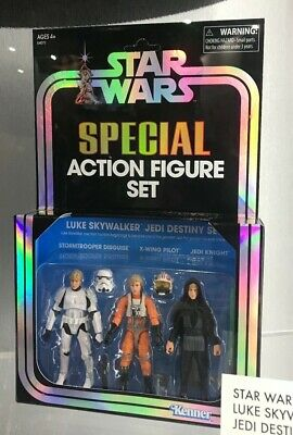 Sdcc 2019 Exclusive Hasbro Star Wars Special Afs Luke Skywalker Jedi Destiny Set