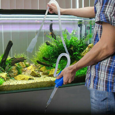 Aquarium Clean Vacuum Water Change Siphon Gravel Cleaner Fish Tank P K3Z2