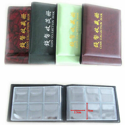 60 Coins Pockets Album Money New Collecting Book Holders Collection O9K0