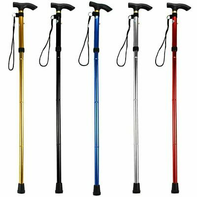 Lightweight Easy Folding Aluminium Walking Stick Walking Cane Height Adjustable