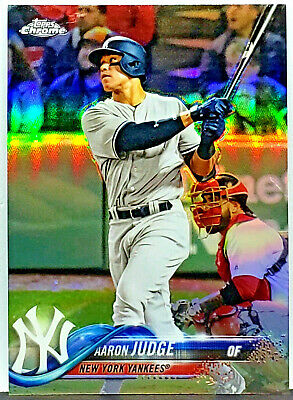 Sparkling Refractor Aaron Judge Rookie Of The Year 2018 Topps Chrome #1 Yankees