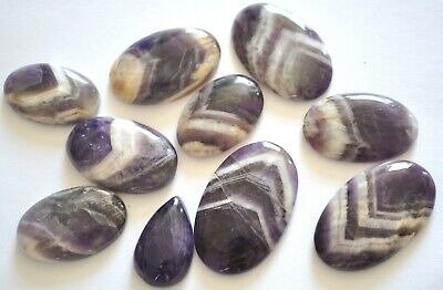 349cts Natural Amethyst Lace Gemstone Cabochon Lot 10 Pieces 10H47