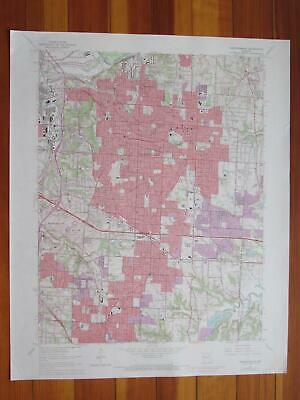 Independence Missouri 1972 Original Vintage USGS Topo Map