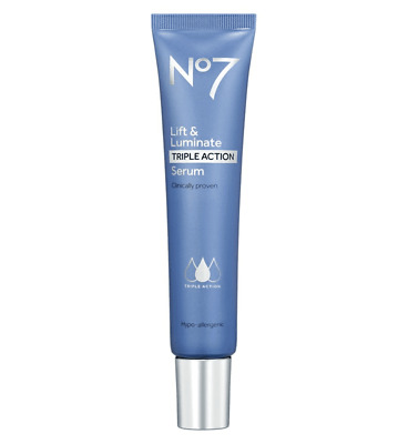 No7 Lift and Luminate Triple Action Serum - 50ml New & Boxed