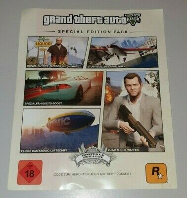 Grand Theft Auto 5 Special Edition DLC - PlayStation 3 PS3 Download GTA V
