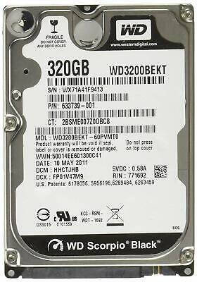 "Western Digital LAPTOP Scorpio Black 320 GB 2.5"" Hard Drive - WD3200BEKT"