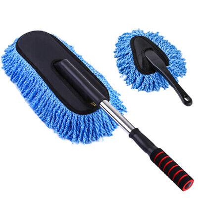 Large Car Cleaning Duster Home Wax Treated Microfiber Extendable Handle Brush
