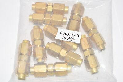 Pack of 10 NEW Parker Tube Fittings, Part: HBTX-B, Brass