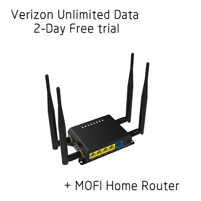 Verizon Unlimited Data 4G LTE + MOFI Home Internet Router - 2 Day Free Trial