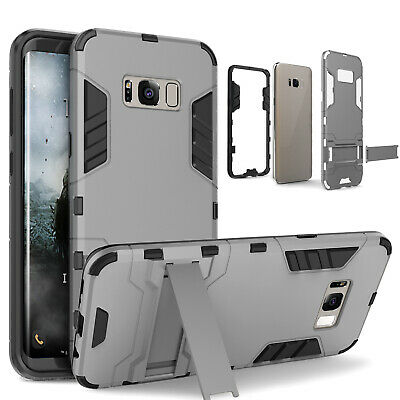 For Galaxy S10 S9 S8 Plus Case, Slim Heavy-Duty Shockproof Cover w/Glass Screen