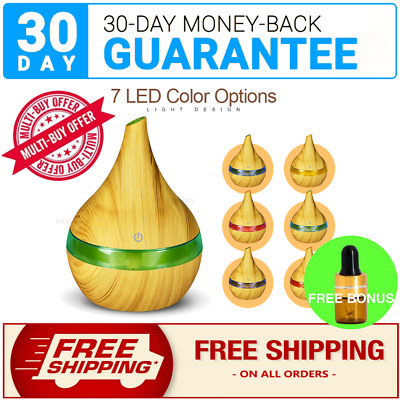 Aromatherapy Aroma Diffuser LED Essential Oil Ultrasonic Air Humidifier Purifier