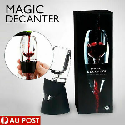 New Magic Decanter Essential RED Wine Aerator and Sediment Filter Pouch AU Stock
