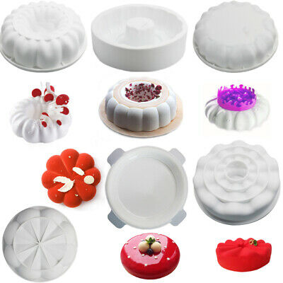 Silicone Cake Decorating Mold Fondant Chocolate Cookies Muffin Baking Mould Tray