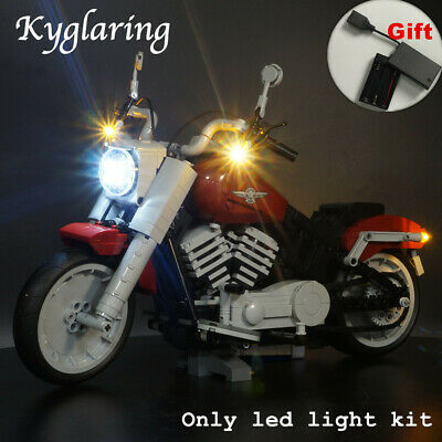 Kyglaring LED Light for LEGO 10269 Harley Davidson Fat Boy Beleuchtungs with box