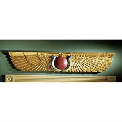 """Egyptian Ancient Temple Wall Pediment 40"""" Decor Sculpture Art Gift Collectable"""