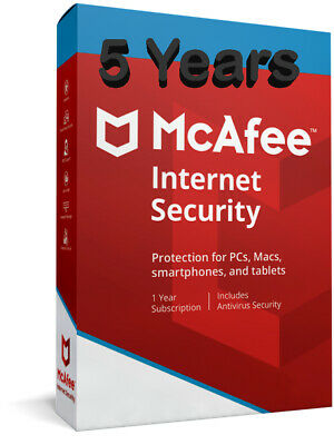 McAfee Internet Security 2019 One Device for 5 Years MAC