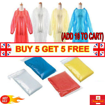 DISPOSABLE Poncho Rain Coat Festival Camping Emergency Waterproof Outdoor_Hiking