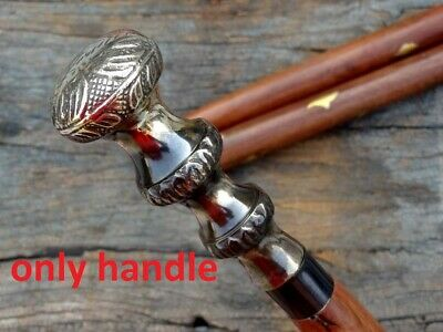 Vintage Brass Victorian Style Head Handle Walking Stick Canes only handle
