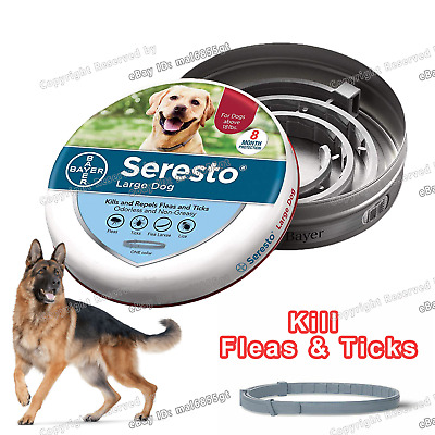 Bayer Seresto Flea & Tick Collar for over 18lbs Large Dogs with Free Shipping