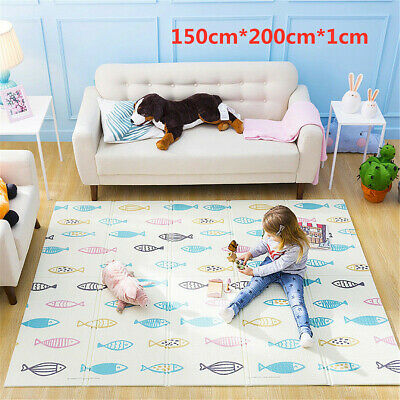 2*1.5m Infant Children Kids Mat Foldable Cartoon Baby Play Babe Carpet XPE Gift