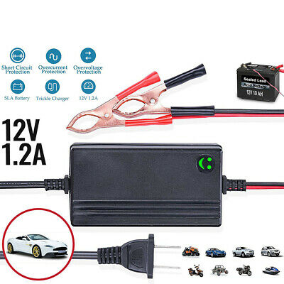 Car Battery Charger 12V Portable Auto Trickle Maintainer Boat Motorcycle W0G5Y