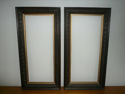 Antique Large Pair Of Matching Decorative Picture Frames