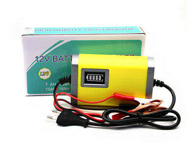 12V Intelligent Automatic Smart Motorcycle Motorbike Battery Charger K7Y5Q