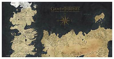 Game of Thrones Westeros Map Tempered Glass Poster