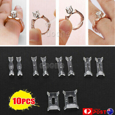 10PCS Invisible Tightener Ring Size Reducer Resizing Adjuster Pad Resizing Tools