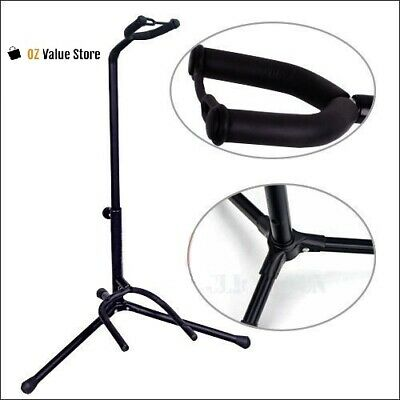 Portable Folding Electric Acoustic Bass Guitar Stand GIG Floor Rack Holder  B