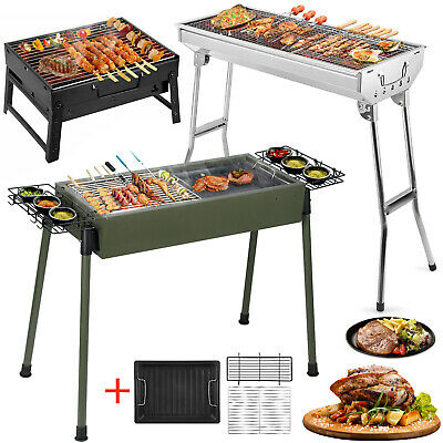 Large Portable BBQ Barbecue Steel Charcoal Grill Outdoor Patio Garden DIY UK